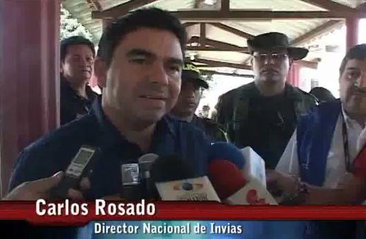Director nacional de Invias de visita en Putumayo