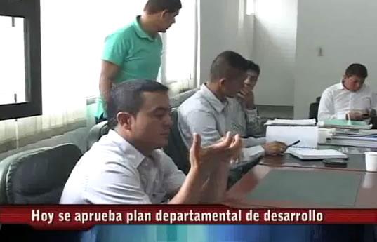 Asamblea departamental aprueba plan de desarrollo