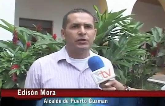 Alcalde de Puerto Guzmán y plan de desarrollo