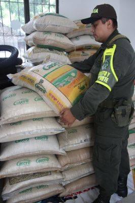 Incautan en el Huila arroz proveniente del Putumayo