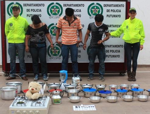 Desarticulada banda que se dedicaba a robar electrodomésticos en Mocoa