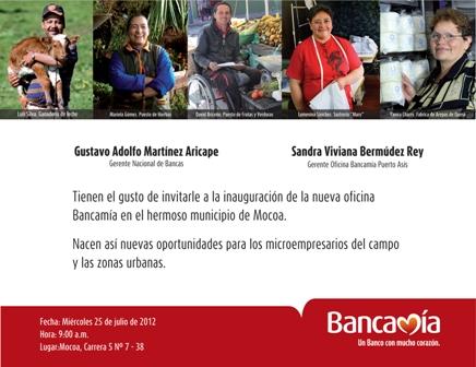 Bancamía abre una nueva oficina en Mocoa