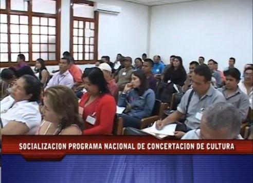Socialización Programa Nacional de Concertación de Cultura