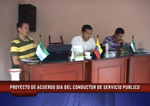 Concejo de Mocoa debate proyecto Día del Conductor