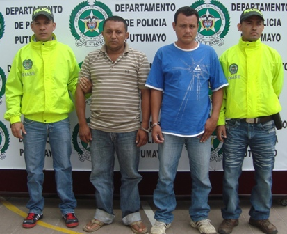Capturados dos peligrosos extorsionistas en el Putumayo