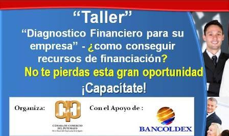 Taller : Diagnostico Financiero para su empresa – ¿como conseguir recursos de financiación?