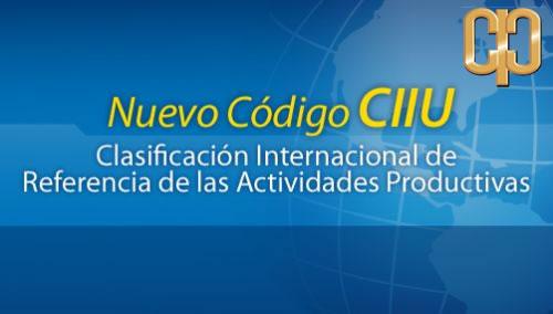 Actualice la información de su empresa de acuerdo al código CIIU