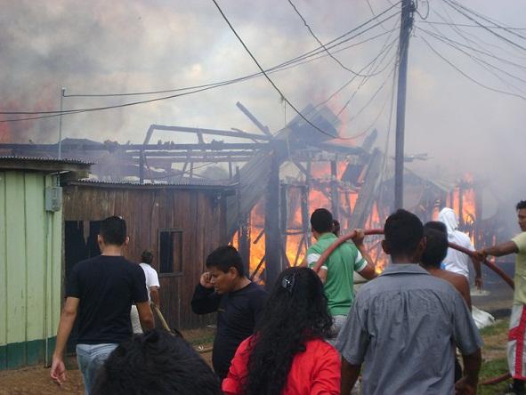 Conflagración deja a 7 familias sin vivienda en Leguízamo