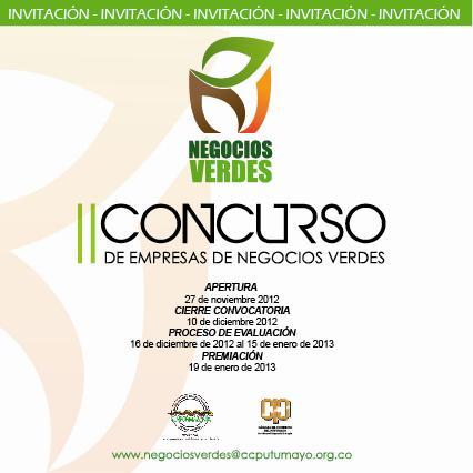 Se prepara programación de entrega de premios del Segundo Concurso de Empresas de Negocios Verdes