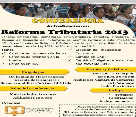Conferencia Reforma Tributaria 2013