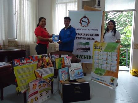 Secretaria de salud departamental, entregó Dotaciones de material de Información, educación y comunicación (IEC) de salud pública para el Putumayo