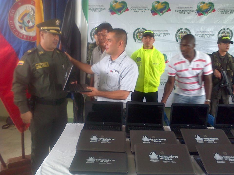 Recuperan portátiles robados de la institución educativa Amazónica de Puerto Guzmán.
