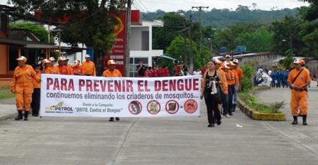 Instituciones de salud unidas contra el dengue en Orito