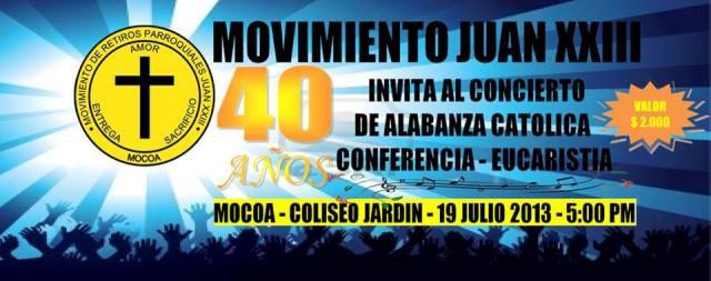 Concierto de Alabanza Católica en Mocoa