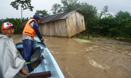 Diez mil personas damnificadas por inundaciones en Puerto Guzmán Putumayo
