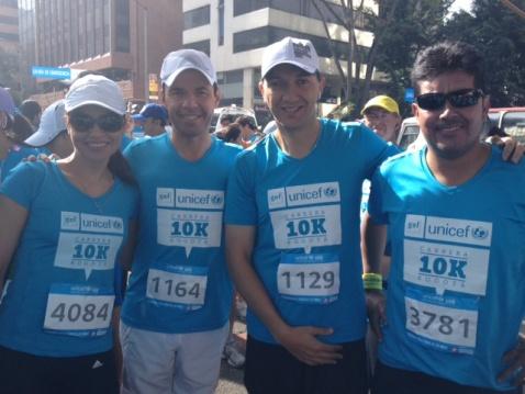 Guillermo Rivera corrió la carrera organizada por UNICEF con el fin de recoger fondos para la educación de los niños de Putumayo.