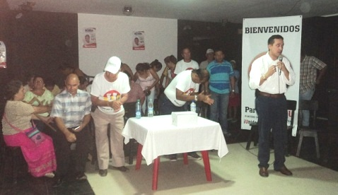 Fernando Ochoa participó de la cena navideña del Partido de la U en Leguízamo