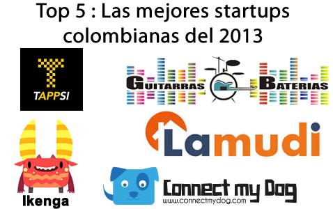 Top 5 : Las mejores startups colombianas del 2013