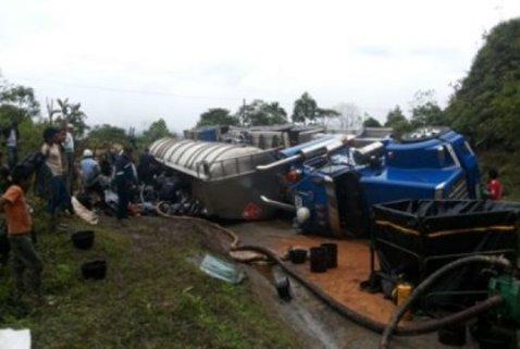 Nuevos accidentes de carrotanques con crudo en el Huila