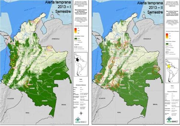 Alertan por ocho nuevos núcleos de deforestación en Colombia