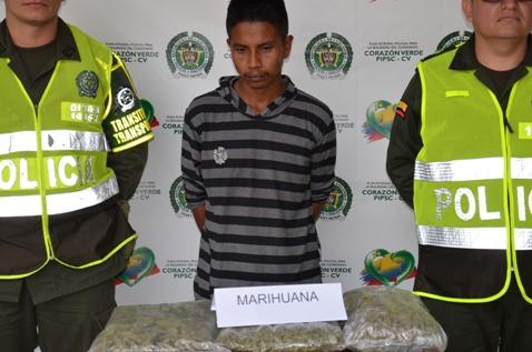 Policía en el Putumayo incauta mas de 2mil dosis de marihuana