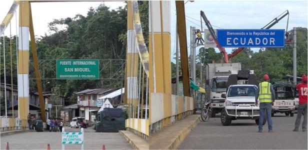 Colombia y Ecuador legalizan cuatro nuevos pasos limítrofes en 720 kilómetros de frontera