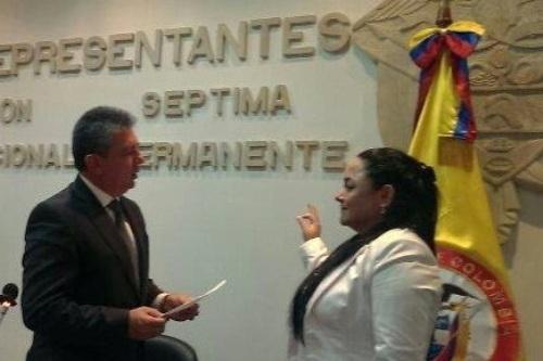 Argenis Velásquez Ramírez, nombrada vicepresidenta de la comisión séptima de la Cámara de Representantes