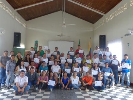 Putumayo con facilitadores en la metodología «Agua y Educación»