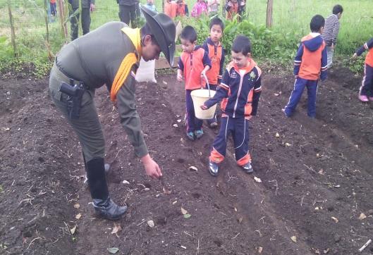 La Granja de Mi Abuelo, en Sibundoy, una gran labor de los Patrulleros Técnicos Agropecuarios