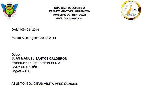 Amenaza de paro en el Putumayo demanda presencia del presidente Santos: Jorge Coral – Alcalde de Puerto Asís