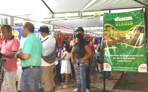 Iniciativas de negocios verdes y biocomercio en cumpleaños 451 de Mocoa, Putumayo