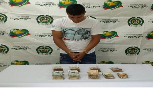 Capturado en flagrancia ladrón cuando pretendía hurtarse 45 millones de pesos de una ferretería en La Hormiga