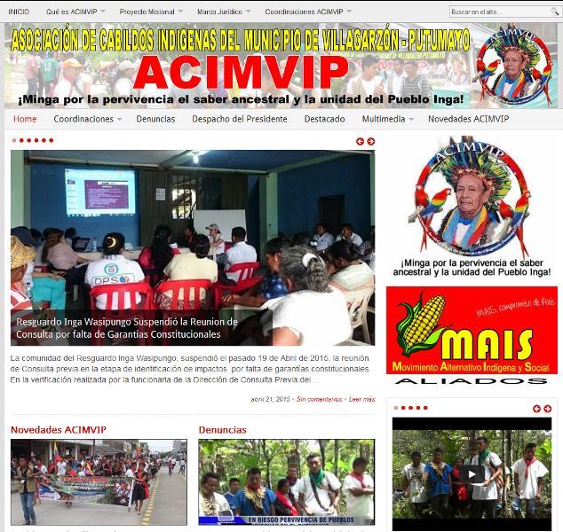 Asociación de Cabildos Indígenas del Municipio de Villagarzón – ACIMVIP