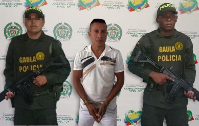 Capturado presunto delincuente dedicado a la extorsión