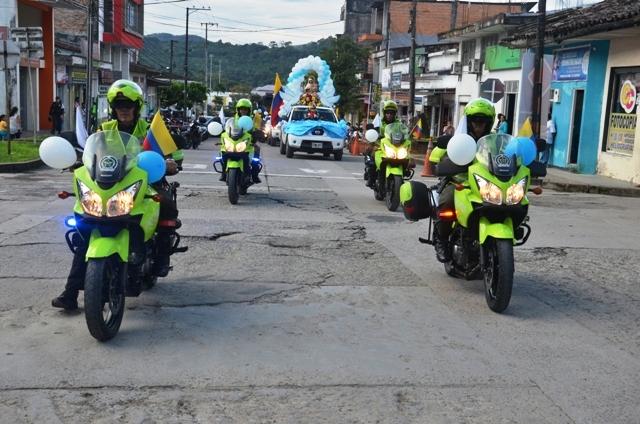 Homenaje a La Virgen del Carmen en Mocoa