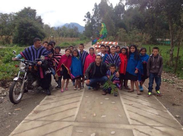 Cabildo indígena Kamentsá Inga en Putumayo celebra obra de desarrollo vial terciario