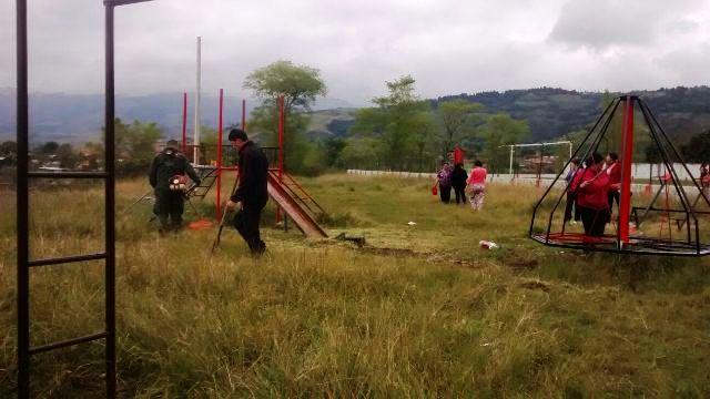 Policía Putumayo y Comunidad de Sibundoy restauran parque infantil