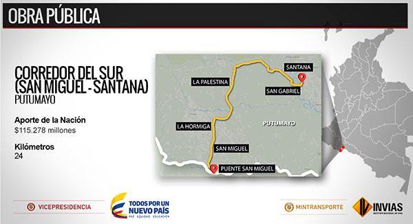 En pocas semanas inician trabajos de mejoramiento en la vía San Miguel Santana, Putumayo