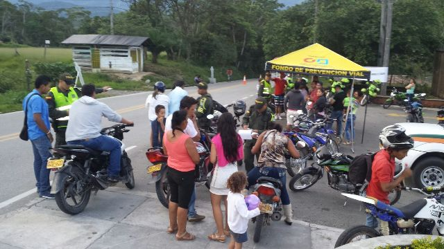 Campaña de prevención en tránsito realiza Policía Putumayo