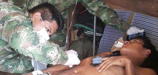 Ejército atiende y salva a menor herido por artefacto explosivo en Putumayo