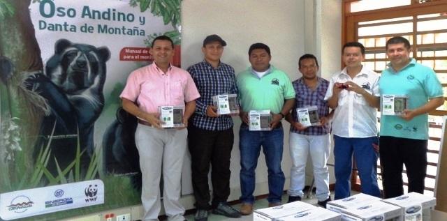 Entregados equipos de monitoreo al Plan de Conservación Oso Andino y Danta de Montaña del Putumayo