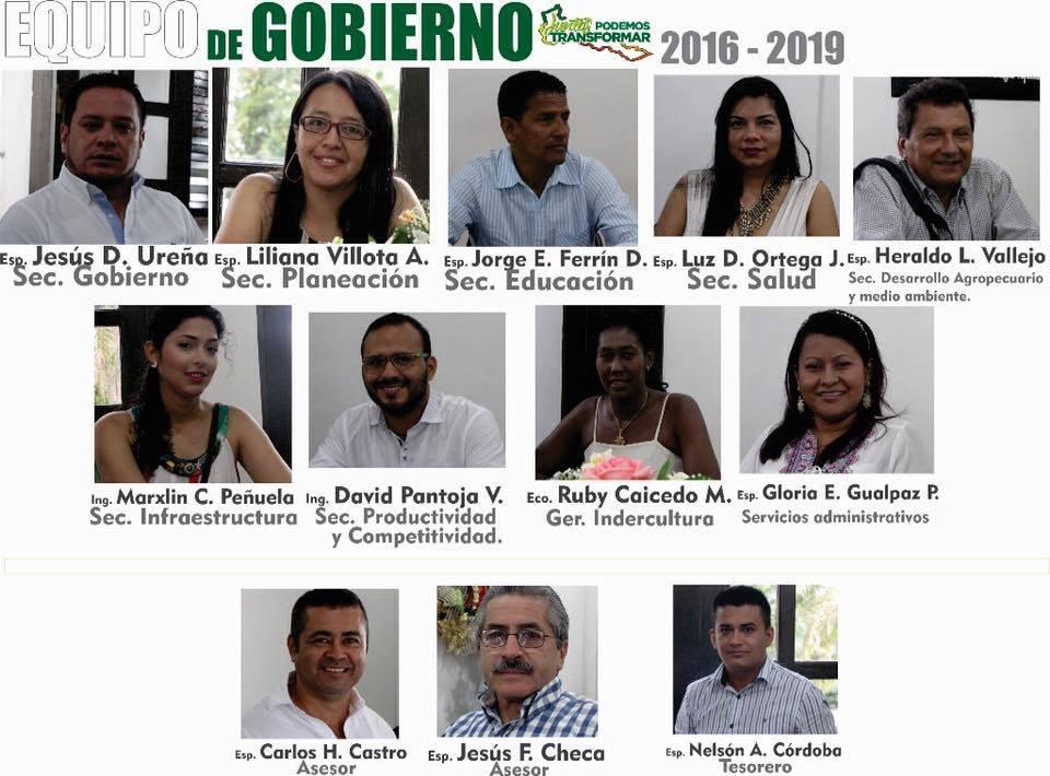 Nuevo gabinete departamental