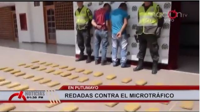 Nuevo golpe al narcotrafico en Putumayo propina la Policía Nacional