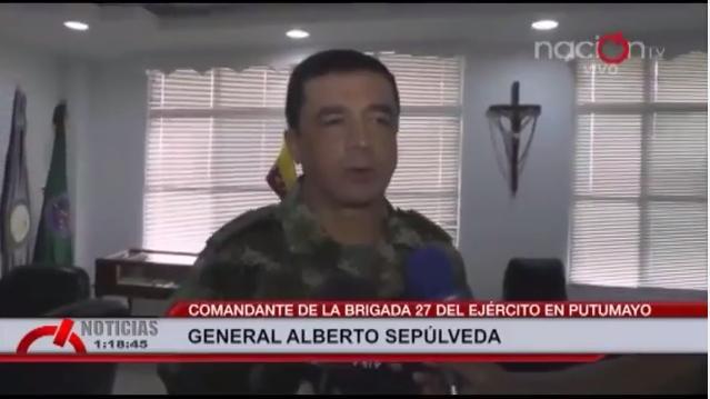 Ejercito Nacional rechaza panfletos de la guerrilla en el Putumayo