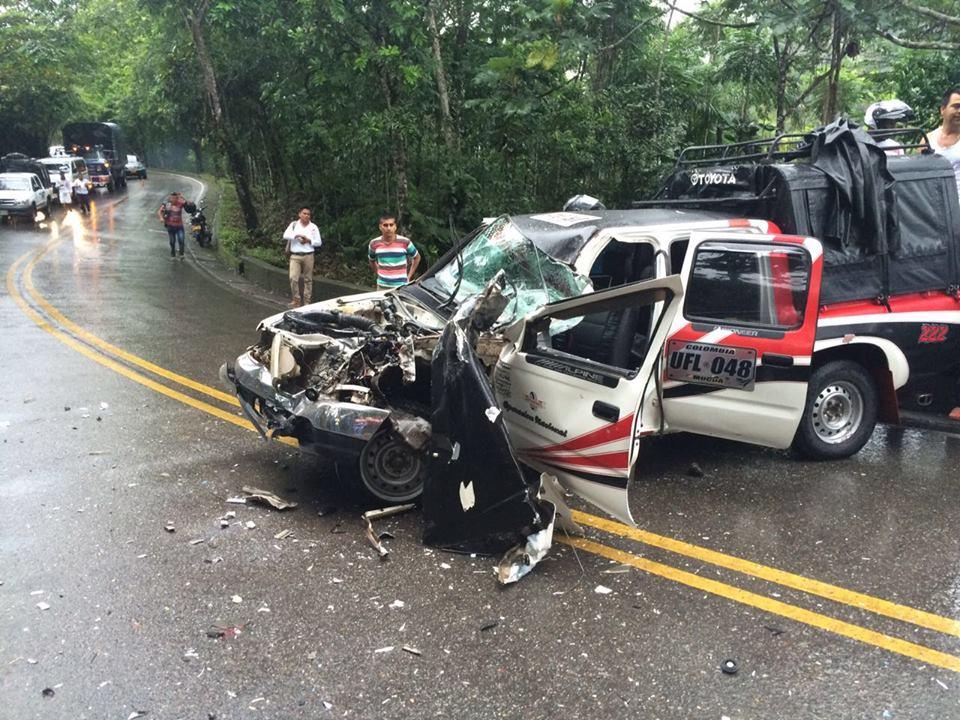 Accidente de tránsito en la vía Mocoa – Villagarzón