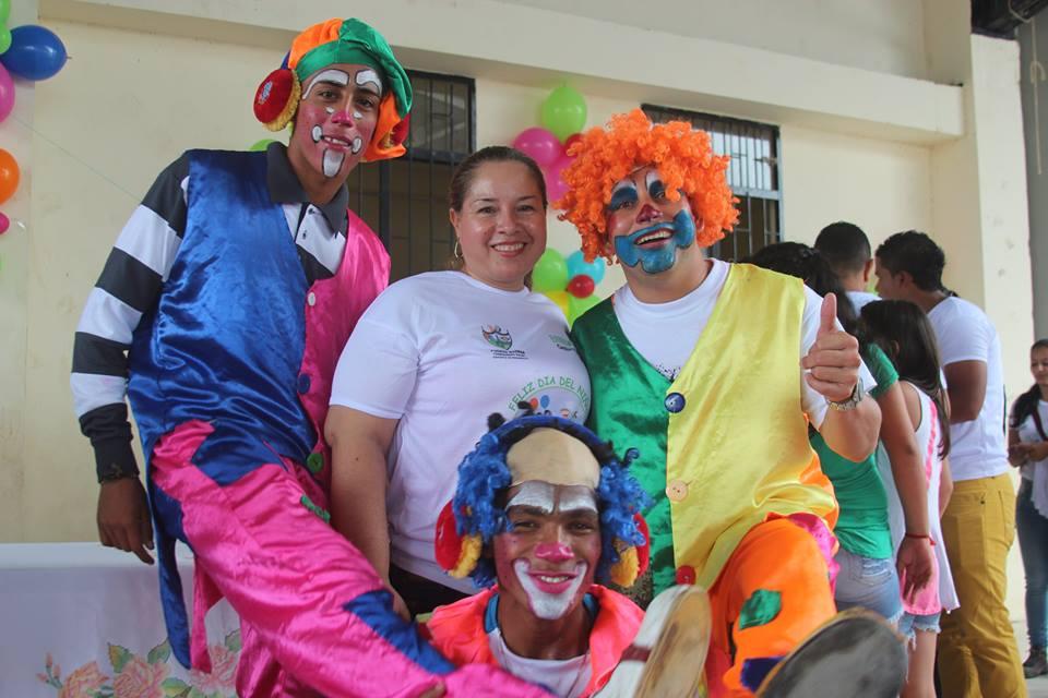 En el día del niño en Puerto Guzmán, Esther Melo se sobró!