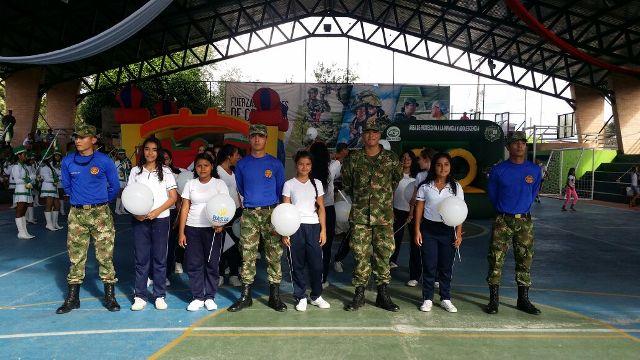 Ejército Nacional continúatrabajando por la defensa de los derechos de los niños y adolescentes en el Putumayo
