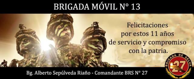 La Brigada Móvil No. 13 está de cumpleaños
