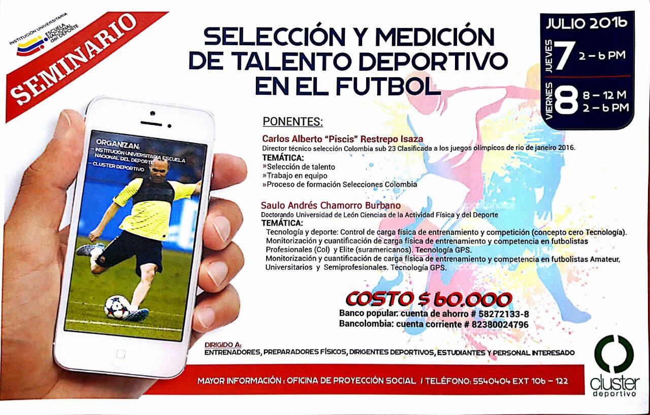Seminario Selección y Medición de Talento Deportivo en el Futbol