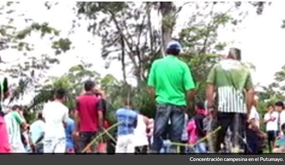 Campesinos del Putumayo piden presencia del Gobierno Nacional para levantar protesta